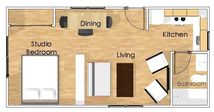 Backyard Guest House on Studio Guest House Floor Plans